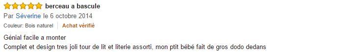 commentaire berceau Monsieur bébé