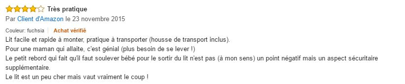 commentaire du berceau chicco next 2 me 1